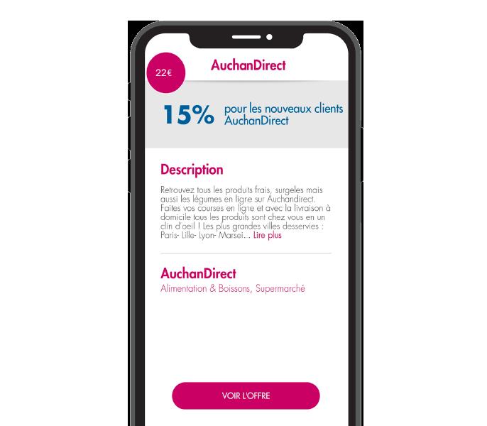 Application mobile SoShop.Club rubrique cashback