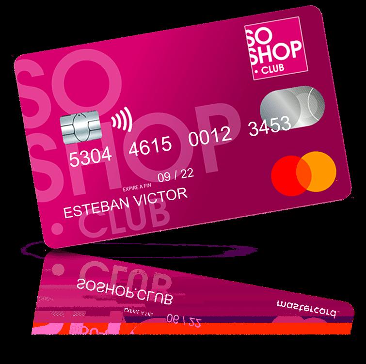 Carte bancaire MasterCard SoShop.Club